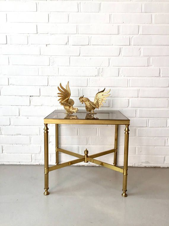 Vintage Side Tables Brass Mid Century Table Glass Table Boho Style Vintage Bedside Table Brass Interior Vintage Beistelltische Beistelltische Und Mosaiktisch
