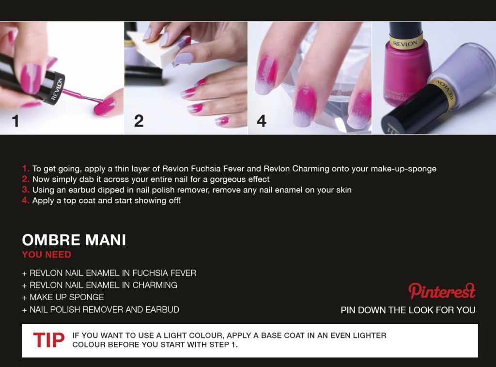 Ombre #nail #art tutorial using @Revlon South Africa products | Nail ...