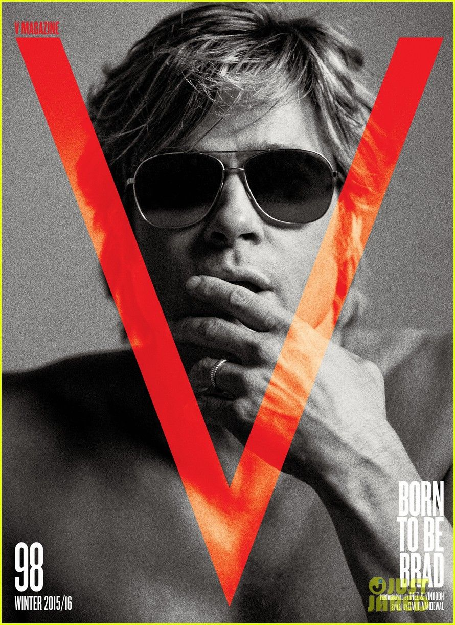 Brad Pitt Goes Shirtless For Super Sexy 'V' Mag Spread! | brad pitt v magazine 05 - Photo