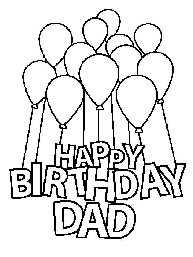 Happy Birthday Daddy Coloring Pages Free Printable Happy Birthday Daddy Coloring Page Happy Birthday Coloring Pages Birthday Coloring Pages Mom Coloring Pages