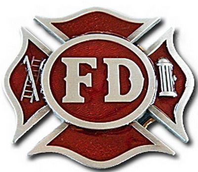 fd fire dept fireman volunteer firefighter crest cool belt buckle