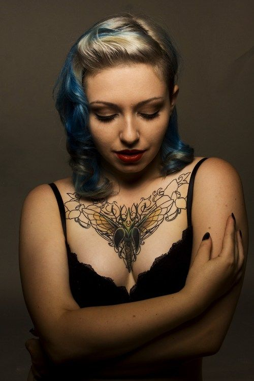 Chest Tattoo For Women Google Search Chest Tattoos For Women Chest Tattoo Girl Chest Tattoo