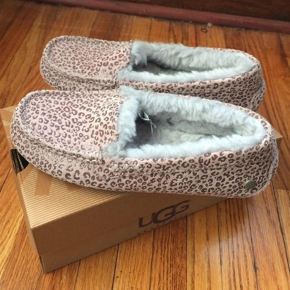 purple cheetah print ugg moccasins These are 100% authentic & comes with original box.
