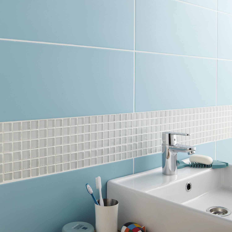 carrelage mural loft en fa ence bleu atoll n 5 20 x 50 2. Black Bedroom Furniture Sets. Home Design Ideas