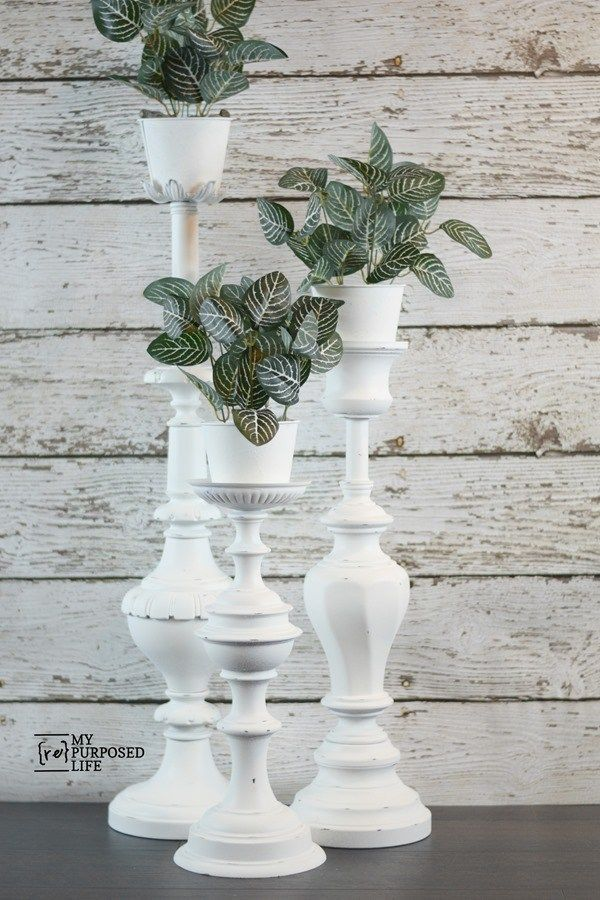 Photo of repurposed lamp plant stands – My Repurposed Life® Rescue Re-imagine Repeat