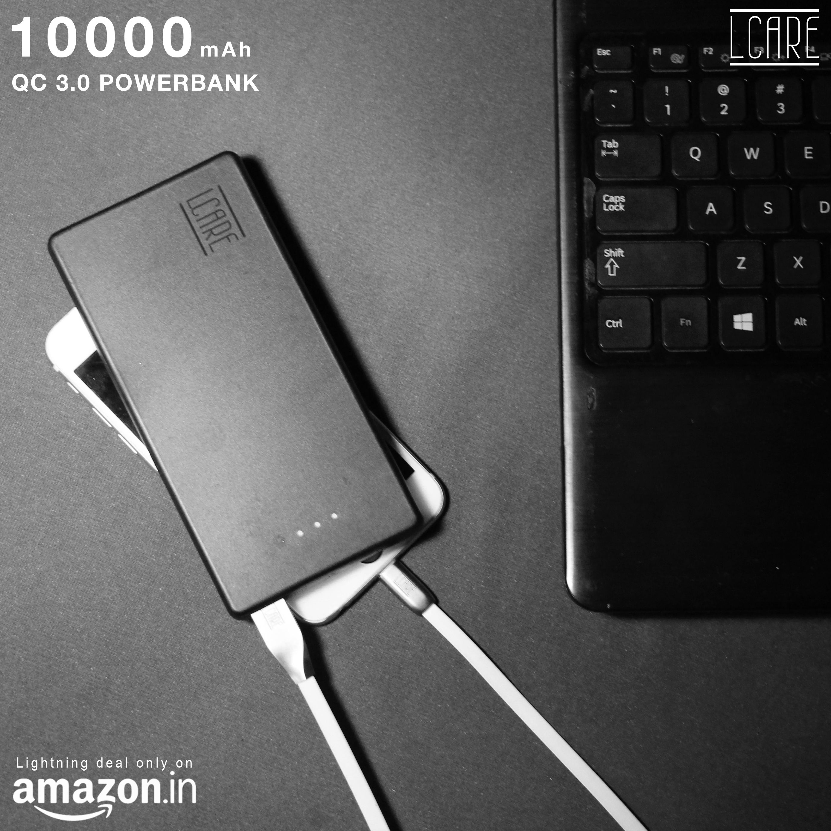 """Get superior 10000mAh LCARE power bank in the best price"