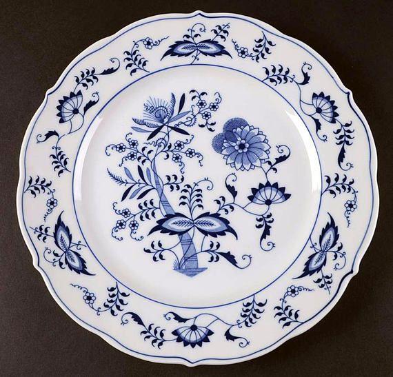 Mid-century (1950s) Blue Danube Japan large dinner plate | charger. Blue & Mid-century (1950s) Blue Danube Japan large dinner plate | charger ...