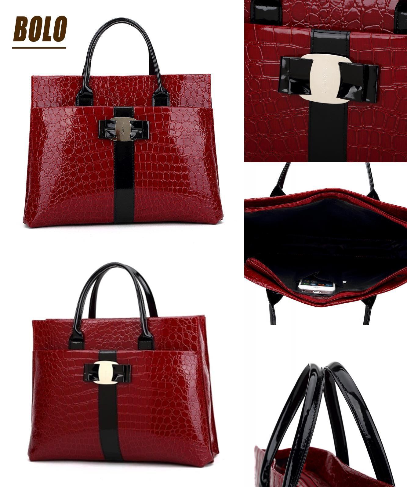 Visit to Buy] 2016 New Women Handbag Fashion Ruby Red Handbags ...