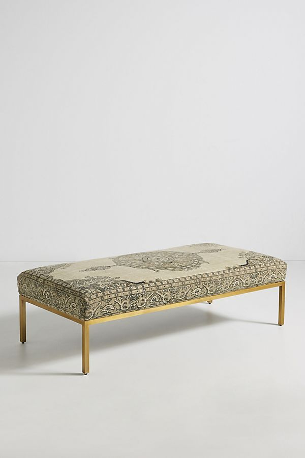 Rug Printed Ottoman In 2020 Furniture Upholstered