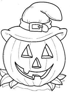 Pumpkin To Color  Pesquisa Google  Halloween  Pinterest