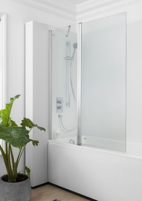 Simpsons Click Double Long Bath Screen 1150 To 1170 Nbdsc1150 Bath Screens Double Bath Luxury Bathroom