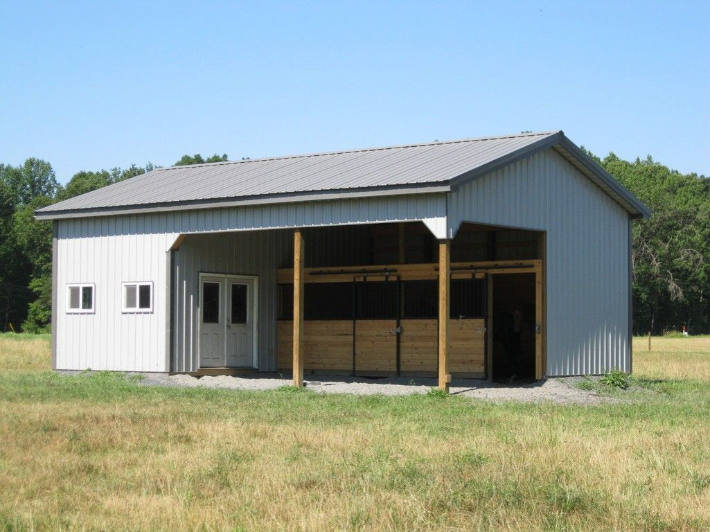 2 stall horse barn layouts stall barn ideas http for Small metal barns