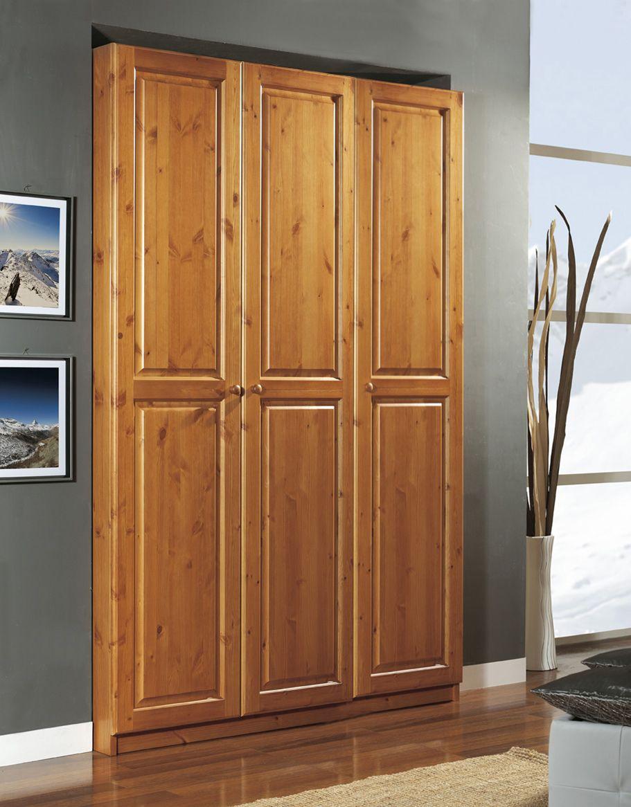 Cabina armadio 3 ante rustico! Completamente in legno di pino di ...