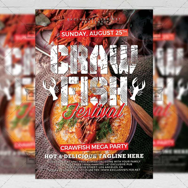 Crawfish Festival Flyer Food A5 Template exclusiveflyer