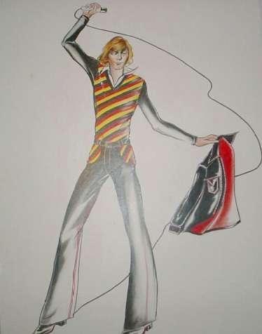 Sketch of 1976 concert attire.
