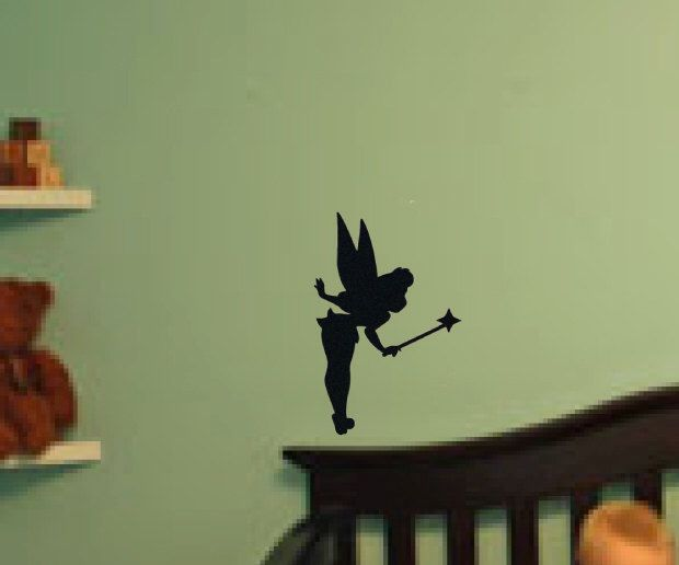 Bell Decor Tinker Bell Wall Decal Free Shipping Light Switch Accent Tinker