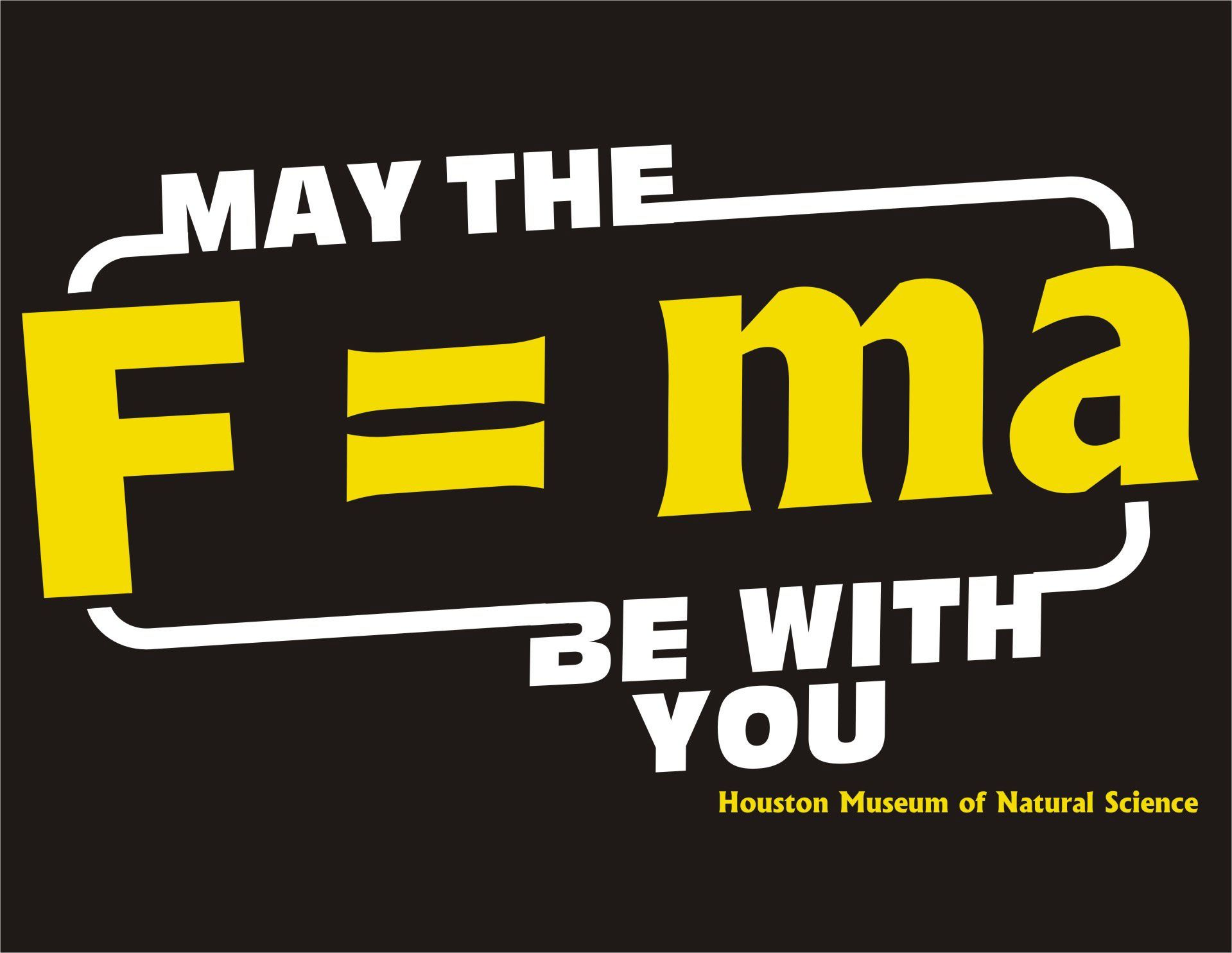 Perfect. <<<>>> may the f=ma be with you tee, adult size small ...