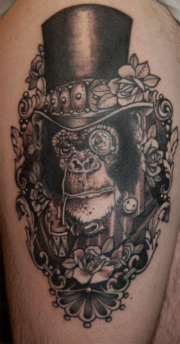 Steampunk chimp by David Tejero