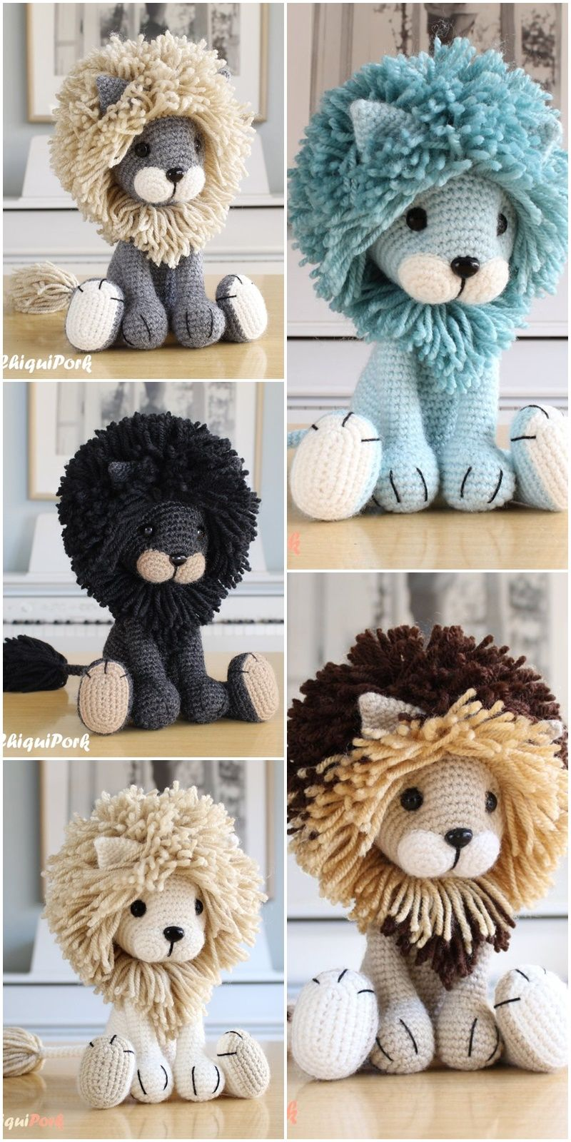 Free Amigurumi Doll And Animal Crochet Patterns - Amigurumi #crochetdoll