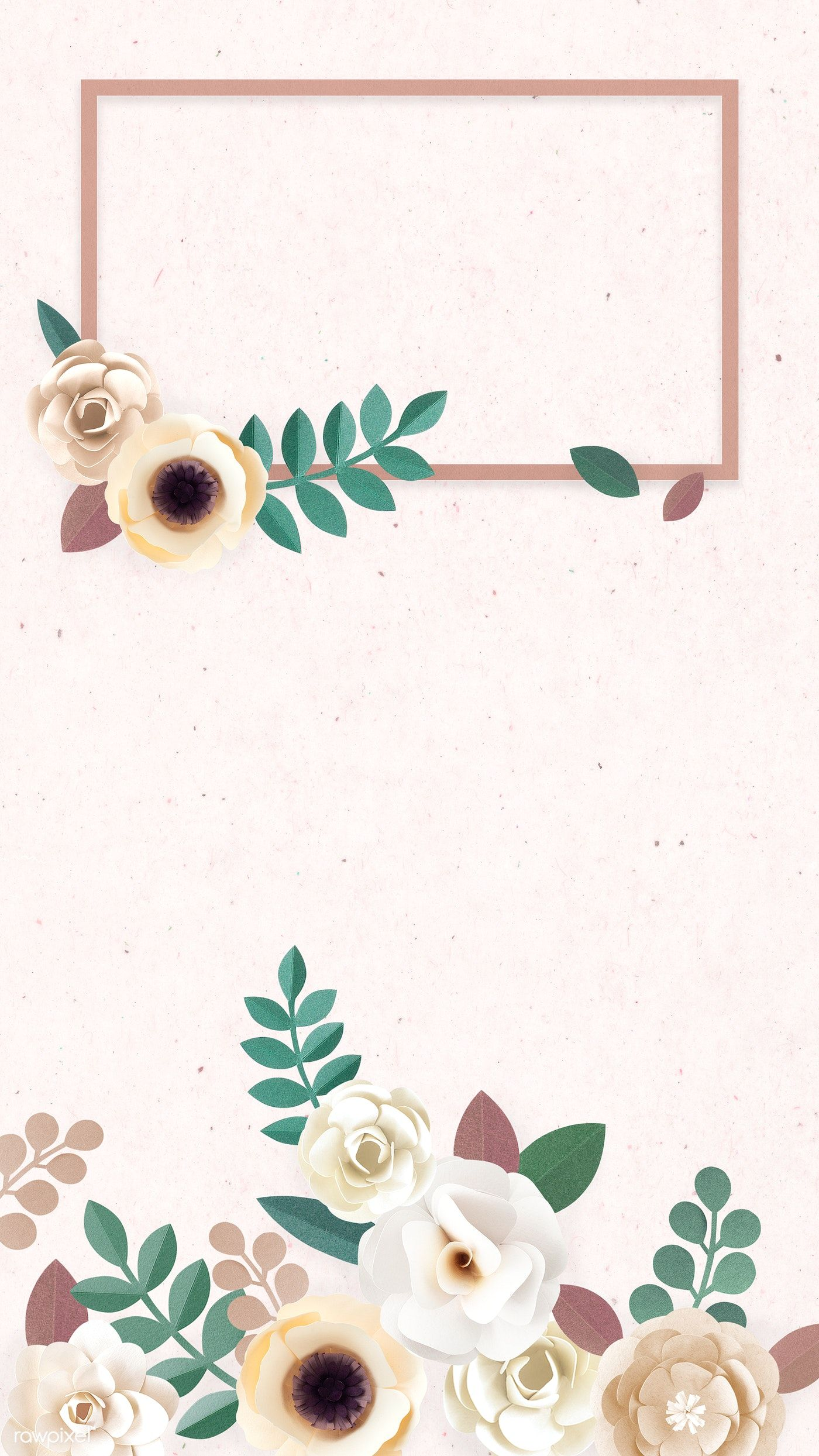 Download Premium Illustration Of Paper Craft Flower Element Card Template Flower Illustration Flower Background Wallpaper Flower Crafts