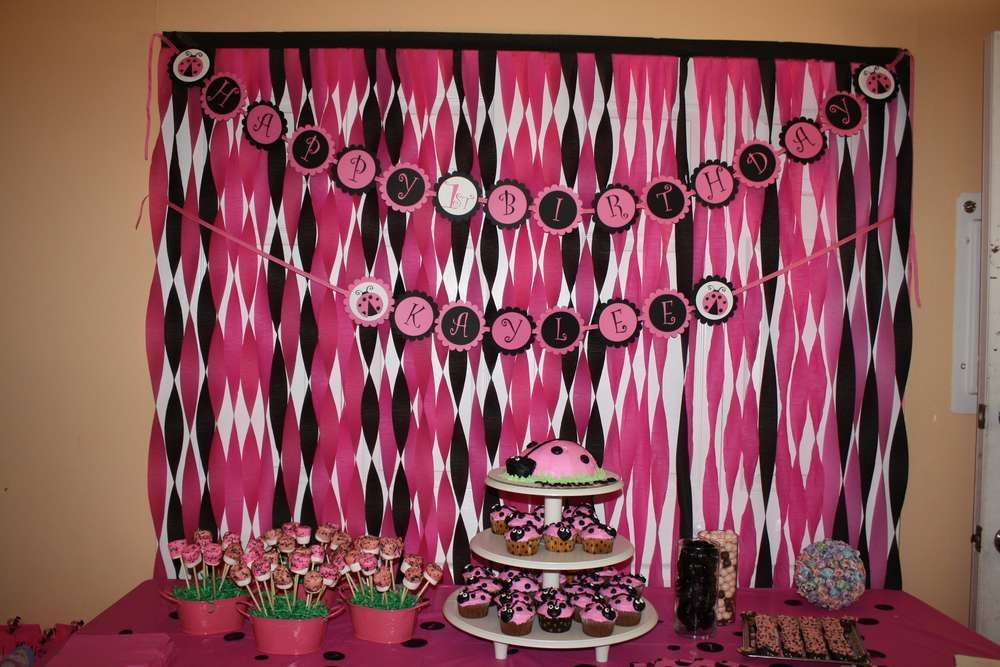 Ladybug pink and black Birthday Party Ideas Ladybug Birthday