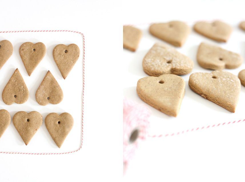 DIY Gingerbread flavored cookies /ornaments that can be hung or eaten! Recipe included!!