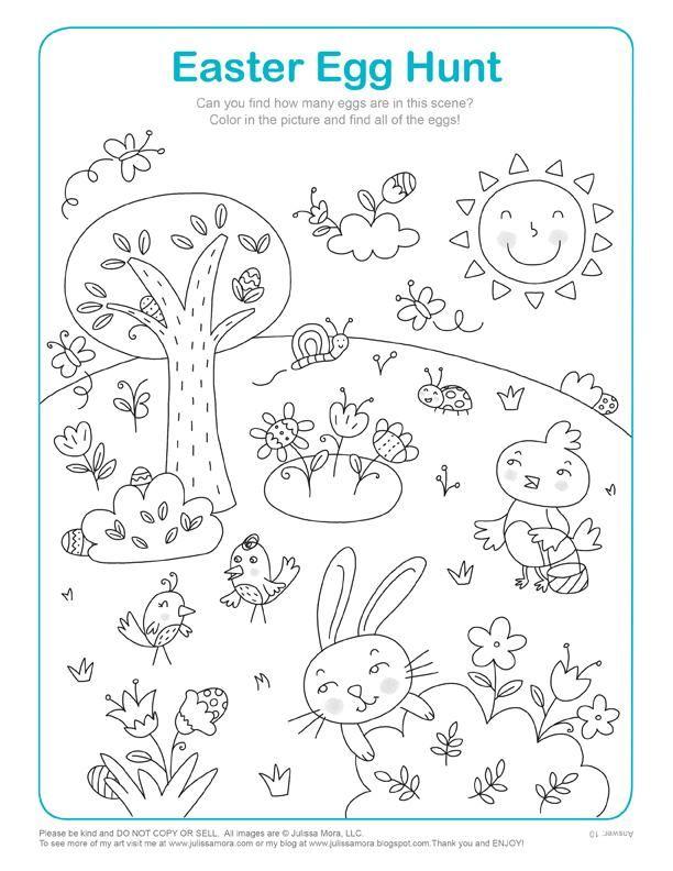 Super atividade para 5 anos de colorir | Páscoa | Pinterest | Colorir  VL22