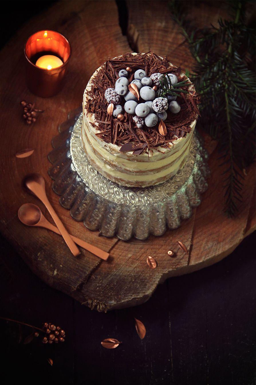 Layer Cake De Noel Aux Epices Et Au Chocolat Fraise Basilic Fraise Basilic Cake Et Idee Gateau