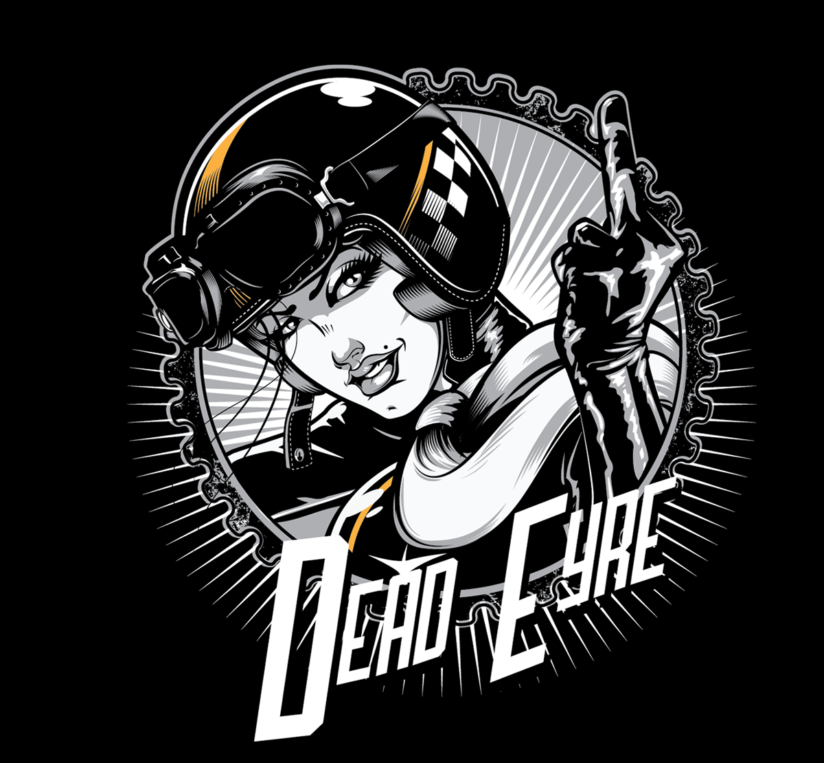 Shirt design graphics - Dead Eyre Clothing T Shirt Design Cafe Chick