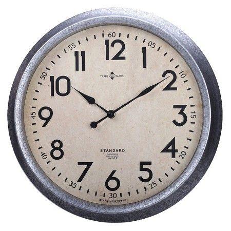 Threshold Galvanized Finish Wall Clock Wall Clock Galvanized Wall Clock Galvanized Clock
