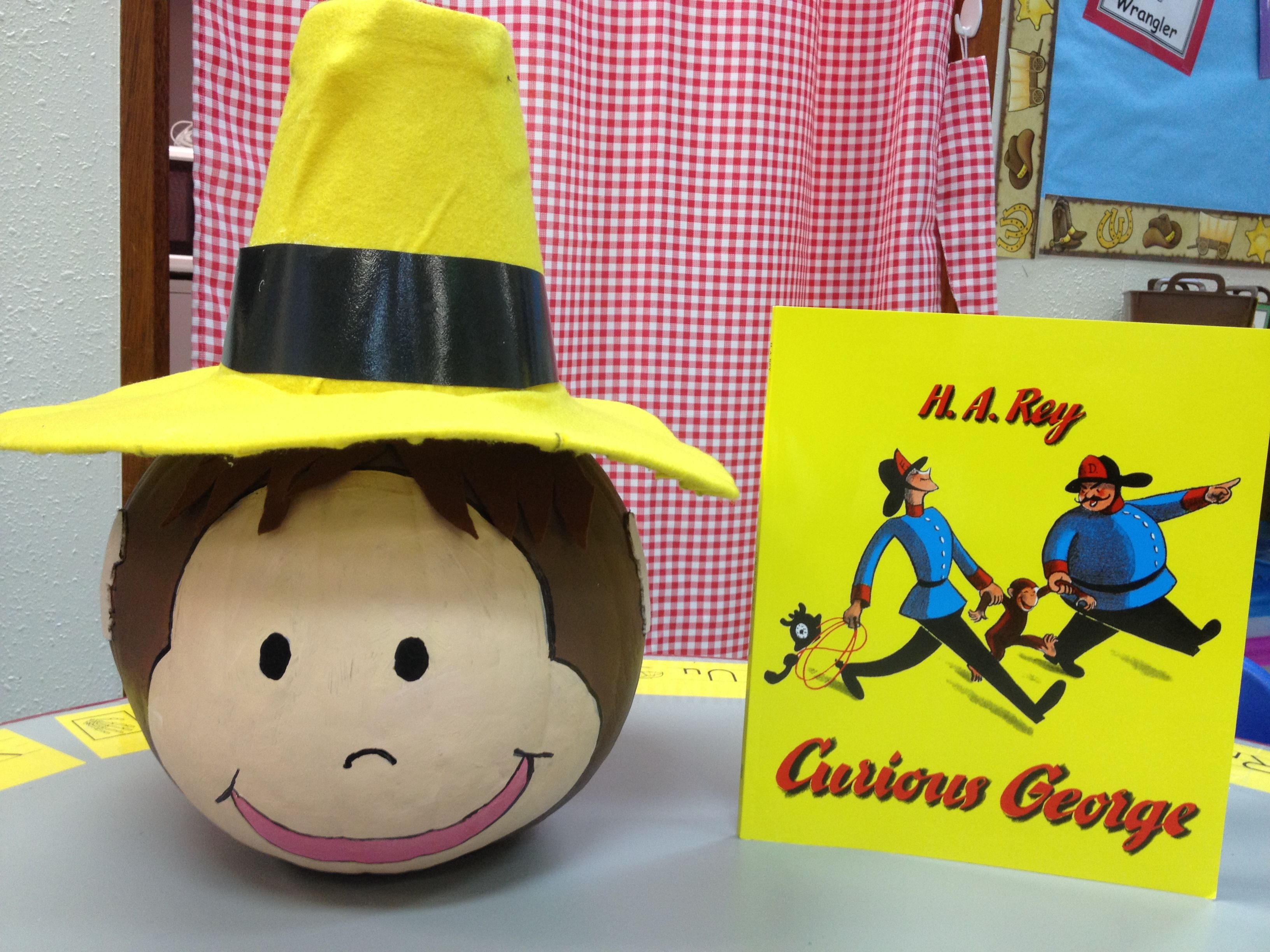 curious george character pumpkin - Curious George Halloween Games