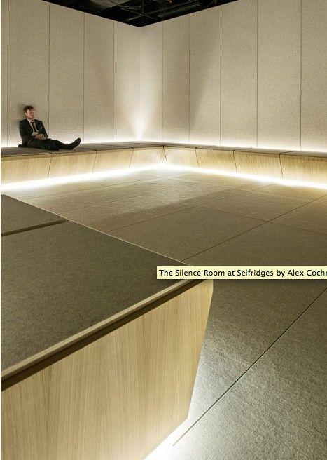 The Silence Room At Selfridges Alex Cochrane Architects Architect Lighting Concepts Interior