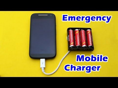 0dc0dec66a67b3 How to Make an Emergency Mobile Phone Charger using AA Batteries - YouTube  Portable Phone Charger