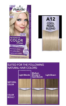 Intensive Color Creme A12 Cool Pearl Blond Couleur Cheveux Et
