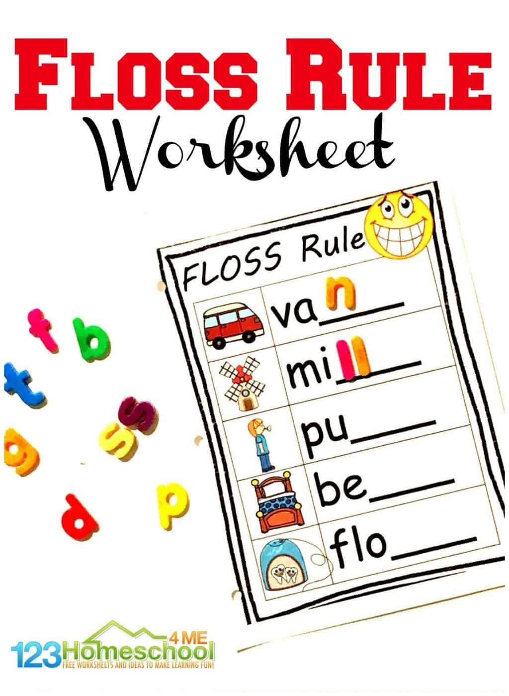 Free Floss Rule Worksheets In