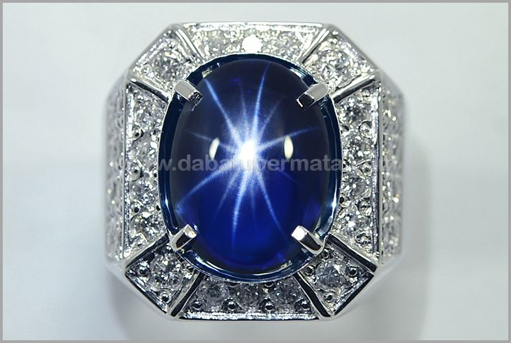 Natural No Heat Royal Blue Safir Star Crystal Mulus Sps 263