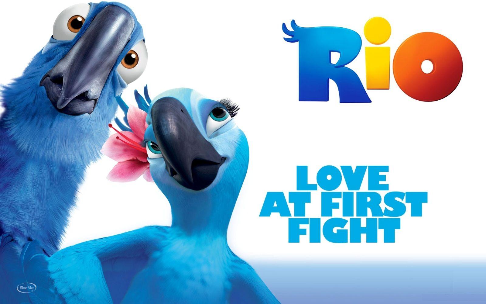 Rio Cartoon Parrots Hd Wallpaper In 2019 Rio Movie New