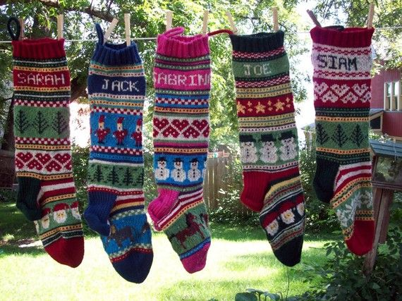 Personalized Hand Knitted Fair Isle Christmas Stocking by annmoody ...