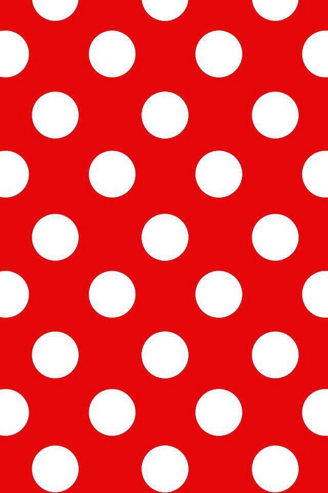 Walpaper Polkadot Red White Wallpaper Pattern Ilration Designer Phone Wallpapers
