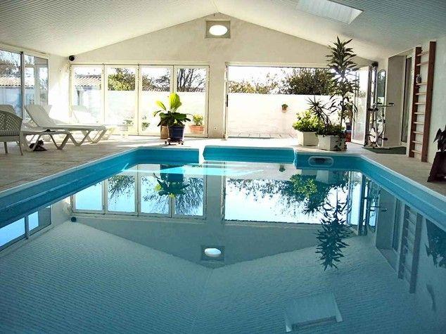 Maison avec piscine couverte chauffée + 2 gîtes et 5 chambres d - location villa piscine couverte chauffee