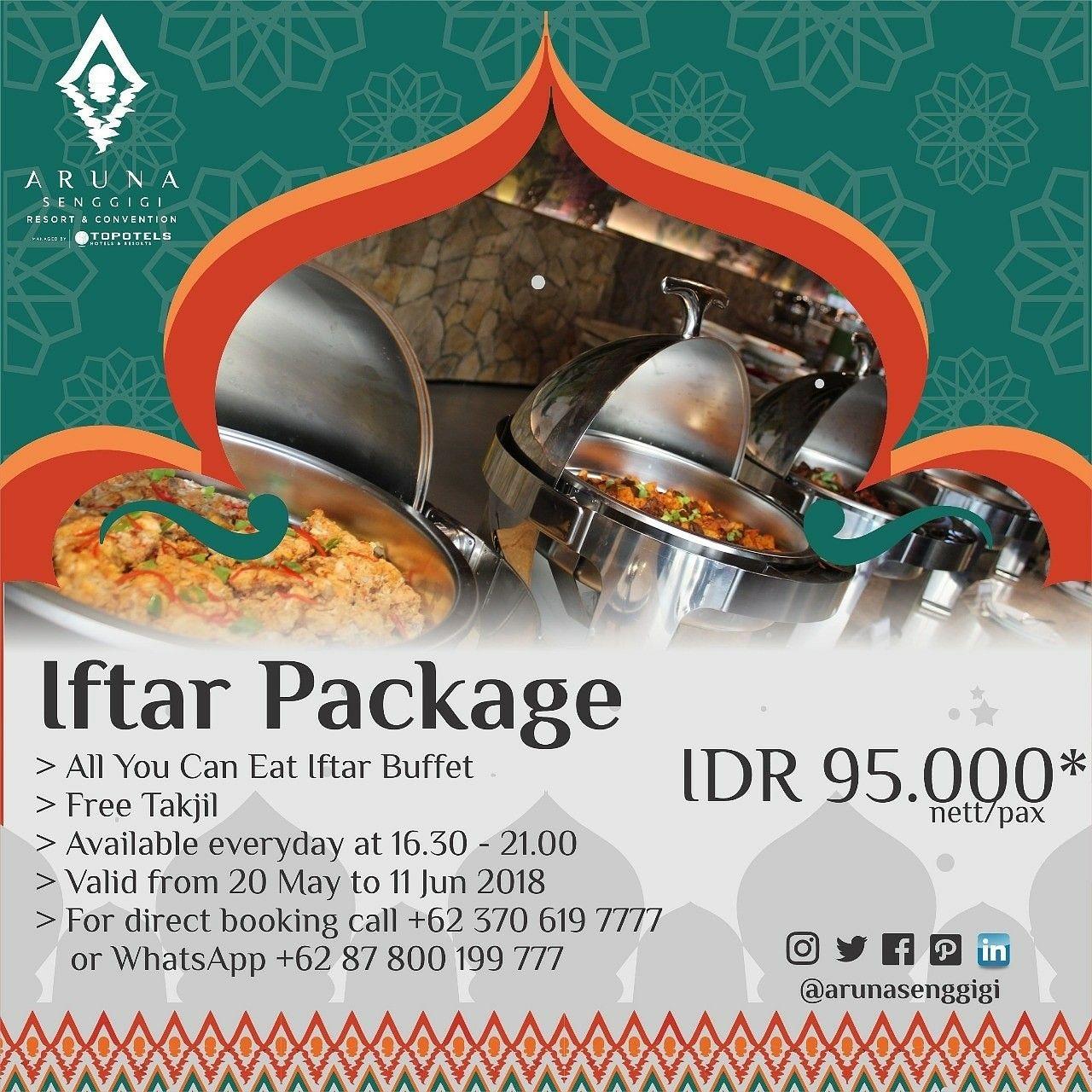 Go Get It Aruna Iftar Package Only Idr 95 000nett Pax