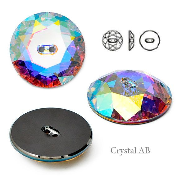 16mm Swarovski 3014 Sew On Button by each Crystal by JoyceTrimming