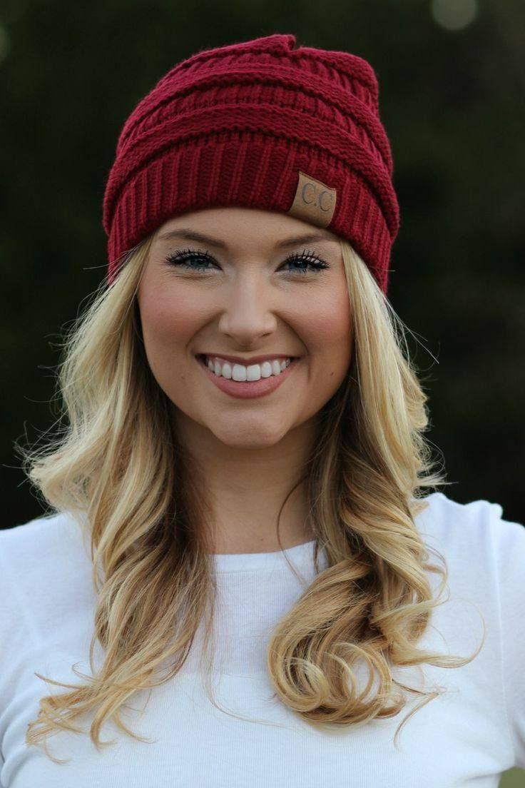 949e0200233 The slouchy Red knit CC Beanie is a must for winter. Check out the other  colors available here. Please note- All head wear is all sales final. No  returns or ...