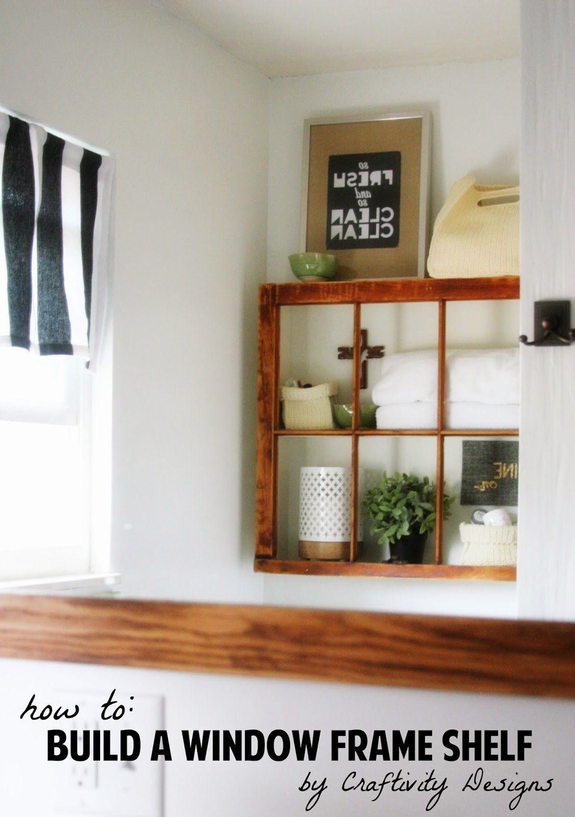 House wooden window design  old window into shelf  craftivigy designs  diy awesomeness