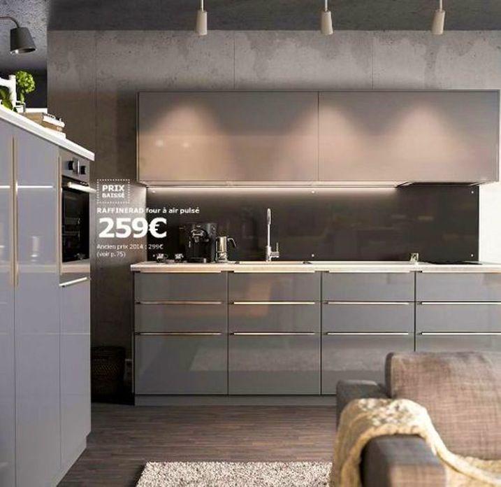 Image Result For Ikea Kitchen Veddinge Grey Ikea Kitchen Gloss Kitchen Cabinets Ikea Cabinets
