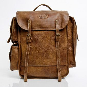 9e75cc610b33 Omer's Pack in Vintage Tribe Leather | Leather Bags | Roots | Dapper ...