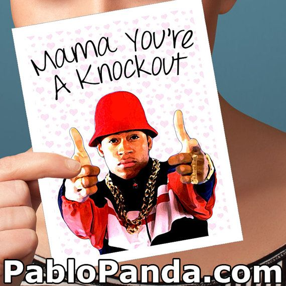 funny mothers day card ll cool j card funny greeting by pablopanda