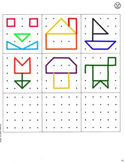 Geoboard shapes template | MOPS creative activities | Pinterest ...