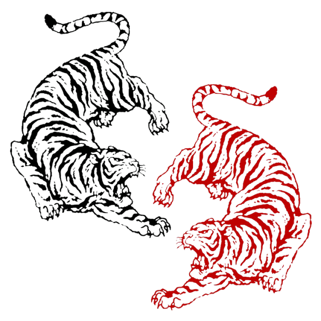 Old School tiger design is part of Old School Tattoos  Awesome Collections Design Press -