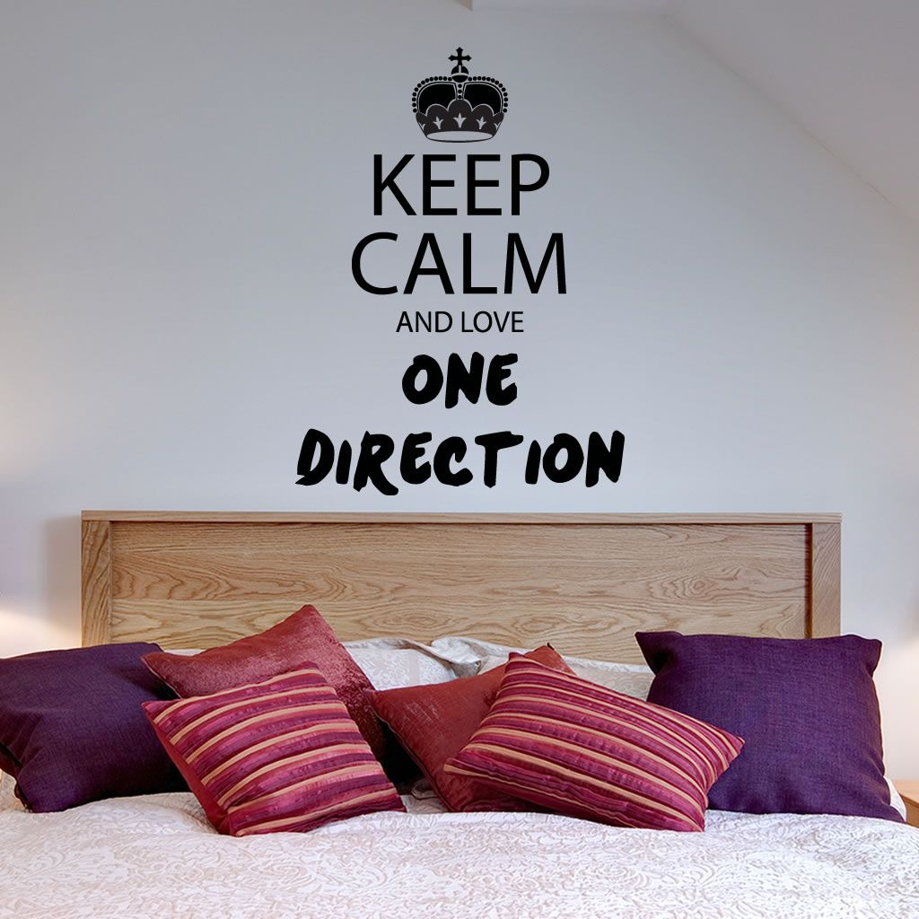 Keep Calm One Direction Wall Sticker Wall Mural Wall Decal Diy - One direction wall decals